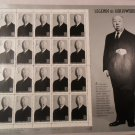 Alfred Hitchcock 1997 Legends of Hollywood 20-Stamp Sheet -Master of Suspense