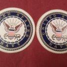 """2 US Navy Seal 4"""" Round Decal Sticker"""