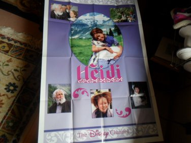 Large Vintage Disney Movie Poster Heidi