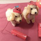 Lot of 2 Vintage 1950's Walking, Barking, Sitting Up, Tail Wagging Dog Battery Operated