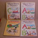 1950's SET OF 4 CHARLIE BROWN DICTIONARY & CYCLOPEDIA