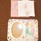 Lot of 2 Precious Moments Porcelain Photo Frame