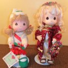 Lot of 2 Precious Moments Christmas Dolls 1989-99