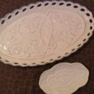 Lot of 2 Lenox Wedding Promises Vanity Tray & ring tray