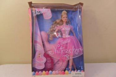 "2001 BARBIE ""NUTCRACKER"" SUGARPLUM PRINCESS WITH MAGIC DANCE STAND MIB"