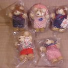 1986 LOT OF WENDY'S FURSKINS BEARS