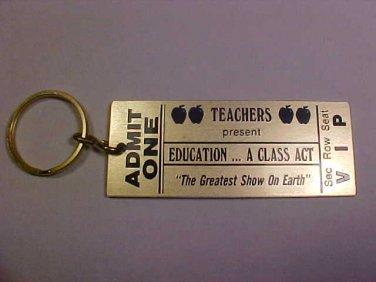 VINTAGE THE GREATEST SHOW ON EARTH TEACHERS KEY CHAIN