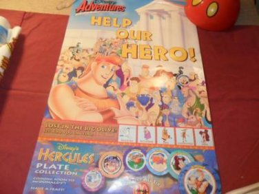 Rare Walt Disney Pictures Presents Hercules Poster