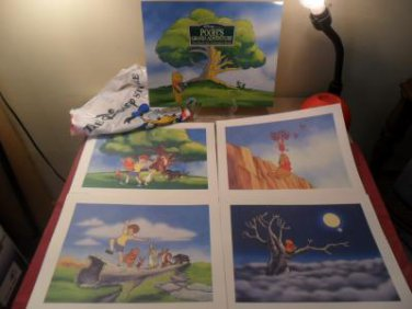 1997 Disney store Pooh's Grand Adventure Exclusive Lithograph Portfolio