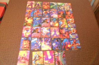 1994 marvel masterpieces lot of 33 cards
