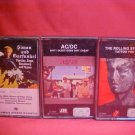 LOT OF 3 ROCK-IN-ROLL CASSETTE AUDIO TAPES