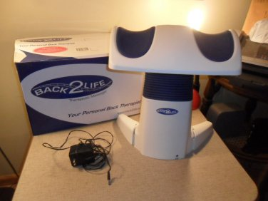 BACK 2 LIFE CONTINUOUS MOTION THERAPEUTIC BACK MASSAGER EXCELLENT USED CONDITION
