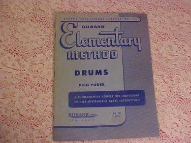 VINTAGE ELEMENTARY METHOD DRUMS BOOK