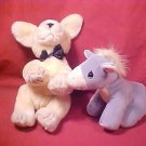 2 PLUSH TOY VICTORIA'S SECRET SPIKE & TENDER TAILS