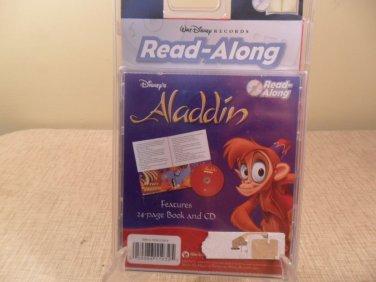 NIP 2000 Disney Aladdin Read-Along Book & CD