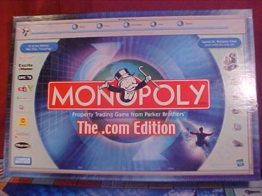 2000 MONOPOLY THE .COM EDITION BOARD GAME COMPLETE