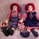 "VINTAGE RAGGEDY ANN & ANDY DOLLS 23"" TALL"