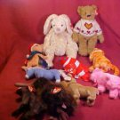 LOT OF 10 TY BEANIE BABIES ALL NWT