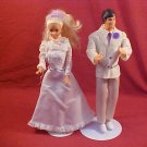LOT OF 2 VINTAGE KEN AND BARBIE BRIDE & GROOM DOLL