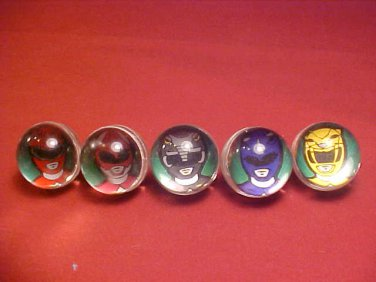 1994 RARE POWER RANGERS 6 COLLECTABLE ACTION MARBLES