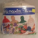 "NIP Towel Toppers Terry Towel Kit ""Apples"" Mary Maxim"