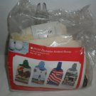 """NIP Towel Toppers Terry Towel Kit """"Cabin Fever"""" #7137"""