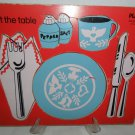 "Vintage Playskool Wooden Puzzle ""I Set The Table"" 5 pc"