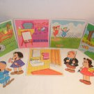 Vintage Little Lulu and Tubby Paper Doll sewing cards
