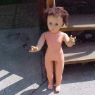 "VINTAGE 29"" TALL DOLL WALKER BROWN HAIR"
