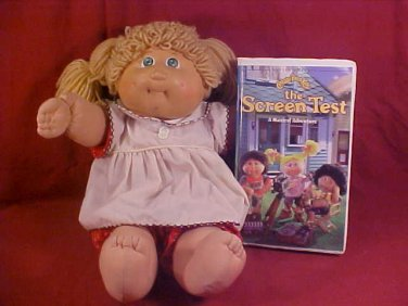 1978-82 CABBAGE PATCH KIDS DOLL & 1997 VHS VIDEO