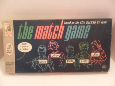 MB 1963 THE MATCH GAME #4320 Based on the Fun Packed TV Game Show complete