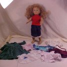 "1998 BATTAT 18"" DOLL AND CLOTHES LOT"