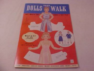 1991 VINTAGE DOLLS THAT WALK PAPER DOLLS UNCUT