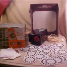 Rare VINTAGE 50's SAWYER'S VIEW-MASTER PROJECTOR w/36 REELS & SCREEN