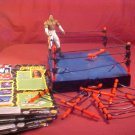 1999 WCW NWO ACTION CORNER RING W/BOOKER T. FIGURE