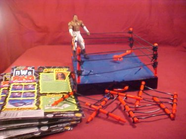 1999 WCW NWO ACTION CORNER RING W/BOOKER T. FIGURE