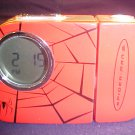 2004 MARVEL SPIDERMAN 2 CLOCK WITH & TIME FLASH