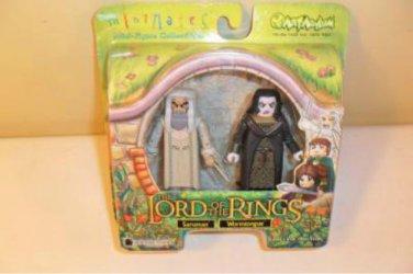 MIB Lord of the Rings Minimates Saruman & Wormtongue