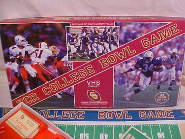 1987 VCR COLLEGE FOOTBALL BOWL BOARD GAME COMPLETE
