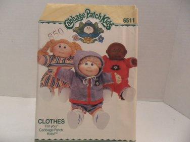 1984 Cabbage Patch Kids Sewing Pattern Butterick 6511 Uncut