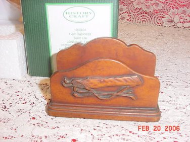 2001 ENESCO GOLF BUSINESS CARD FILE HOLDER MIB