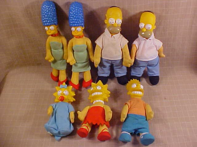 1990 SIMPSONS BURGER KING CHARACTER DOLLS