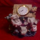NOAH'S ARK RESIN CLOCK FIGURINE