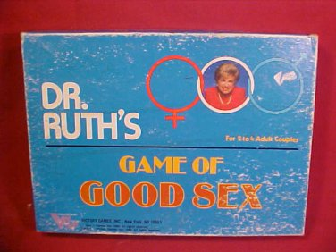 1985 DR. RUTH'S GAME OF SEX BOARD GAME