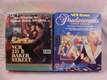 LOT OF 2 VCR GAMES 221 BAKER STREET/PREDICAMENTS (SOLD)