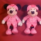DISNEY STORE 2 MINNIE MOUSE BEAN PLUSH DOLL
