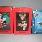 1090's Lot Of 3 Enesco Treasury Of Christmas Ornaments MIB