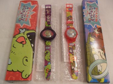 Lot 2 The Rugrats Movie Burger King Collectible Wrist Watch MIB