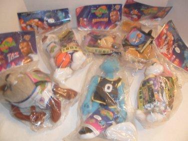 1996 Lot Of 6 McDONALDS Space Jam Plush Toys MIP
