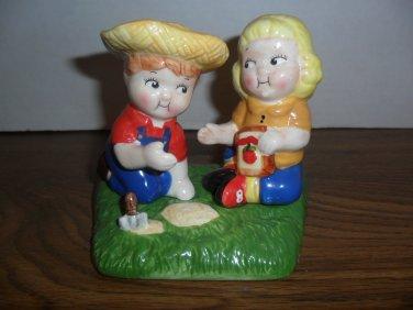 Vintage Campbell Soup Kids Salt And Pepper Farmers